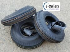 THREE 400x8 6 Ply High Speed Road Trailer Tyres + inner tubes  superb quality