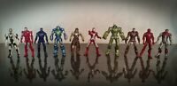 Marvel Iron Man x10 Action Figure Bundle Set Hasbro 2010 Whiplash Various Armour