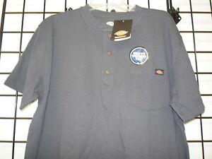 Dickies Short Sleeve Heavyweight Henley Pocket Tee.  Dickies WS451 Charcoal