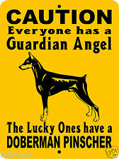 "Doberman Pinscher Dog Sign,Guard Dog Sign,Dog Sign,9""x12"" Aluminum, Gadp1"