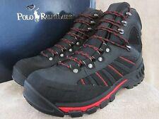 POLO by RALPH LAUREN Harker Black & Red Waterproof Boots Shoes US 11 EUR 45 NWB