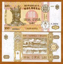Moldova, 100 Lei, 2008, ex-USSR, P-15b, UNC