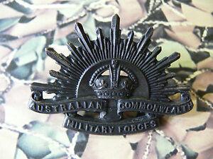 Australian Commonwealth Military Forces Cap Badge Kings Crown