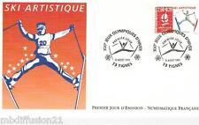 1991**ENVELOPPE**FDC 1°JOUR!!**J.O.ALBERVILLE 92-SKI ART.**TIMBRE Y/T 2709