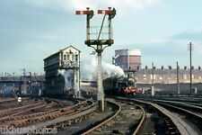 British Rail 7029 Clun Castle & LNWR Signal Box Chester Rail Photo