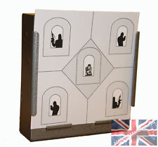 100 Air Rifle Counter Terrorist House Paper Targets 14cm Pistol  (100gsm uk made
