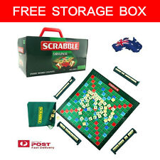 NEW SCRABBLE FAMILY PARTY BOARD TRAVEL KIDS ADULTS LEARNING GAME EDUCATIONAL TOY