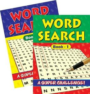 2 x Large Print Word Search Puzzle Books A4 Activity Trivia