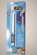 OLFA SAC1 Cuttermesser Edelstahl Spezial mit 30° Klinge und Auto-Lock, Wrapping