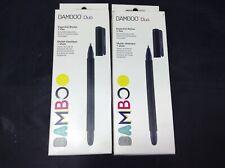 Lot 2 Wacom Bamboo Duo Essential Stylus+Pen - Black CS191K Black 4th Generation