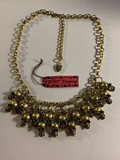 Betsey Johnson Punk Skull Retro Cool Exaggerated Sweater China Necklace-BJ84630