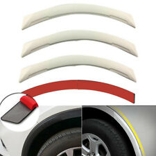 4pcs Universal White Carbon Fiber Car Fender Flares Wheel Eyebrow Lip Decoration