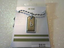 Guess Initial ID Tag b Necklace 16-18 inches