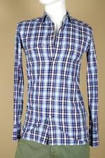 Tom Ford Blue White Plaid Western Shirt sz 38   15   Small Medium New Tags Polo