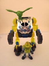 Fisher Price Imaginext Doc Exo Suit Robot Vehicle Dinosaur Raptor Exosuit