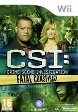 CSI Crime Scene Investigation Fatal Conspiracy - Nintendo Wii Game 16 Disc Only