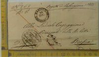 Prefilatelia - 1851 - Lettera da Mantova a Brescia - annullo rotondo con arrivo