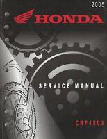 2005  HONDA  MOTORCYCLE  CRF450X  SERVICE MANUAL  (766)