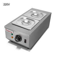 220V Commercial Electric Chocolate Melter Melting Machine 2 Tank Water Heating