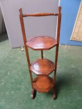 Very Nice Vintage Wooden 3-Tier Folding Cake Stand