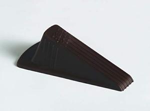 Master Manufacturing Brown Giant Foot Door Stop, Heavy Duty Rubber Wedge Design,