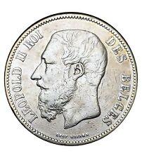 Belgique 5 Francs Léopold 2 1873 k argent
