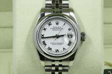 Rolex Lady-Datejust 179160 White Roman Dial 2009 Model With Papers