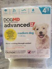 Dog MD MaxDefense Advanced 2 Medium Dog 11-20 lbs 4 applicators/ 4 month supply
