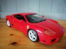 Ferrari 360 Modena 3358 Hot wheels red inc Scuderia shileds fitted 1:18 scale