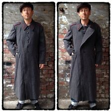 """VTG 40"""" CH RUSSIAN MILITARY WOOL GREATCOAT OVERCOAT STEAMPUNK GOTH WITHNAIL & I"""