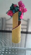 Handmade Flower Vase Gold Yellow Color for Beautiful Home and Living Decor