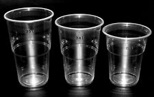 1000 Trinkbecher 0,3 l Bierbecher Becher klar Ø 9,5 cm 11,1 cm Schaumrand PP