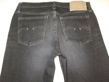 G - Star Raw Jeans Women Low Hip Flare from Italy Black Sz 26