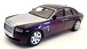 Kyosho 1/18 Scale 08802TPS - Rolls Royce Ghost - Twilight Purple/Silver