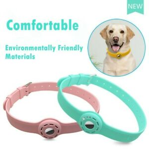For Apple AirTag Silicone Band Collar Case Air Tag GPS Anti-lost fit Cat Dog Fit