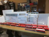 "Lot Märklin ""CARGO"" HO : Locomotive double traction 37432 + 17 wagons différents"