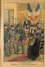MARIAGE CHEF BANDIT PRISONNIER LECA EPOUSE MADEMOISELLE VAN MAEL 1903