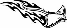 This is a stingray, tribal, flame,  die cut vinyl sticker or decal!!!