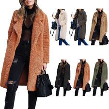 560a14812f Women Winter Teddy Bear Pocket Fluffy Coat Fleece Fur Jacket Warm Outwear  Parka