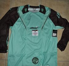TRAVIS PASTRANA SIGNED THOR MINT GREEN CORE JERSEY- X-LARGE-  x-games