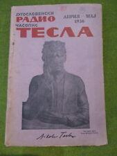 original 1936 magazine NIKOLA TESLA - No.10**ARTICLE ABOUT TESLA'S EXPERIMENTS**