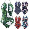 Women's One Piece Swimwear Backless Tummy Control Monokini Swimsuits Bikini CA