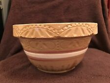 """Vintage 9"""" BOWL RRP Co Robinson Ransbottom Pottery Yellow Ware Numbered"""