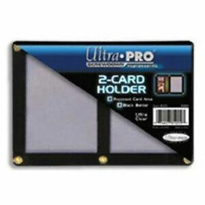 ULTRA PRO 2-CARD BLACK FRAME SCREWDOWN HOLDER - REGULAR SIZED RECESSED CARD AREA
