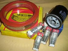 4 Zündkerzen Champion Ölfilter + Luftfilter Fiat 128 Familia Spezial CL Zastawa