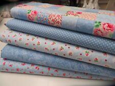 Bonnie Blues Patchwork Pack - 5 fat quarters 100% Cotton Fabric Quilting/Craft