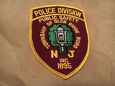 GLEN RIDGE BORO NEW JERSEY  POLICE patch NB
