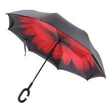 Windproof Reverse Folding Double Layer Inverted Umbrella