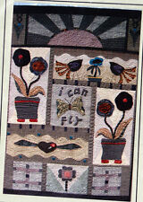 PATTERN - I Can Fly Quilt - folk art style applique and pieced PATTERN