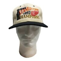 Vintage Detroit Red Wings 1997 NHL Stanley Cup Champions Adult Snapback Cap